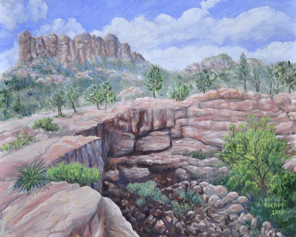 Devil's Kitchen Sinkhole, Sedona, AZ - Paintings by Steven John Koeppe, Dada Design